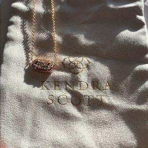 Kendra Scott Elisa Rose Gold Druzy Necklace✨